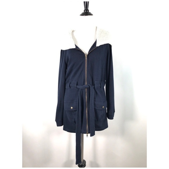 Anthropologie Jackets & Blazers - Saturday Sunday Jacket M Fleece Lined Hood Blue